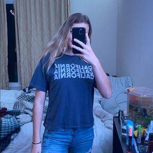 navy blue 'california' brandy melville tshirt